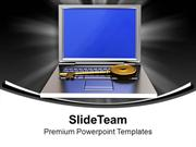 Golden Key On Laptop Security PowerPoint Templates PPT Themes And Grap