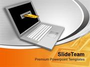 Laptop And Credit Card E Commerce Concept PowerPoint Templates PPT The