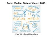 Social Media - state of the art
