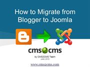 How to Migrate from Blogger to Joomla