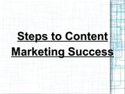 Steps to Content Marketing Success
