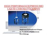 High performance liquid chromatography(HPLC)- pradeep
