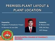 premises- plant layout & plant location-pradeepkumar
