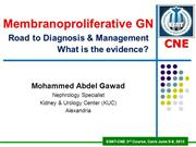 Membranoproliferative GN - Diagnosis & Management