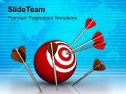 Darts And Target Global Business Strategy PowerPoint Templates PPT The