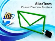 Email Locked Confidential Information Security PowerPoint Templates PP