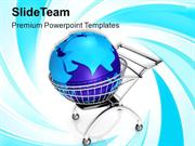 Global Shopping Concept With Shopping PowerPoint Templates PPT Themes