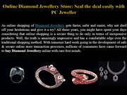 Online Diamond Jewellery Store: Seal the deal easily with PC Jeweller