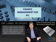 Business Finance Manangement Training for all