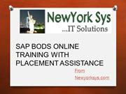 Sap BODS 4.0 Overview and Online Training with Materials