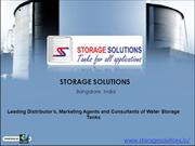 Water Storage Systems -Storage Solutions, Bangalore,India