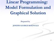 linear programming - Model Formulation, Graphical Method