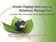 Crown Capital International Relations Management