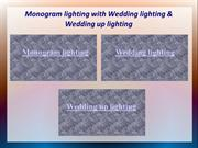 Monogram lighting with Wedding lighting & Wedding up lighting