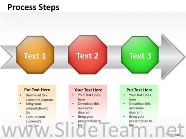 3 steps for sales process diagram powerpoint diagram