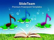 Musical Nodes PowerPoint Templates PPT Themes And Graphics 0313