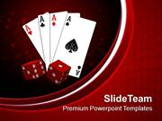Playing Card With Dices Game PowerPoint Templates PPT Themes And Graph