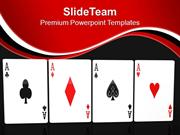 Poker Hand Of Four Aces Playing Cards PowerPoint Templates PPT Themes