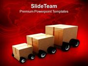 Three Package For Delivery Transportation PowerPoint Templates PPT The