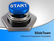 Press Start Button To Start Competition PowerPoint Templates PPT Theme