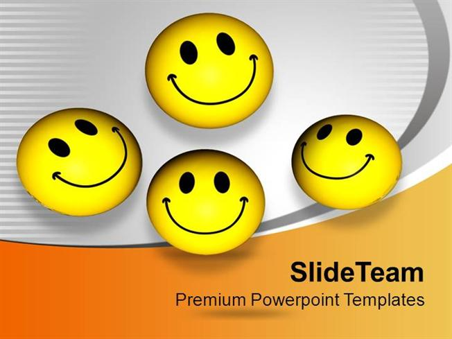 Smileys With Happy Face Joy Peace Powerpoint Templates Ppt