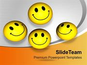 Smileys With Happy Face Joy Peace PowerPoint Templates PPT Themes And