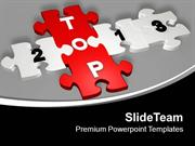 Top With 2013 As Jigsaw Puzzle Pieces PowerPoint Templates PPT Themes