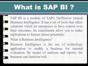 What is SAP BI -An overview and  online training
