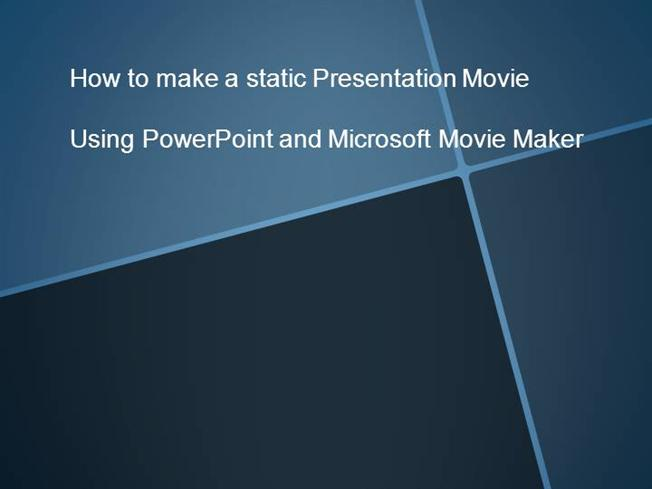 How to Turn Your Powerpoint Presentation Into a Movie (WMV) |authorSTREAM