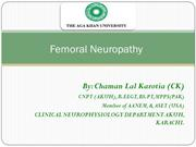 FEMORAL NEUROPATHY