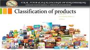Classification of products chandu mm