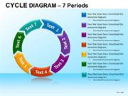 MULTICOLORED CIRCULAR FLOW PROCESS CHART 7 STAGES