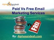 Paid Vs Free Email Marketing Services
