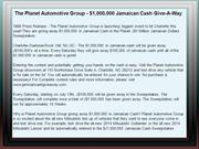 The Planet Automotive Group - $1,000,000 Jamaican Cash Give-A-Way