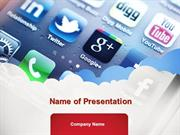 Social Media Applications PowerPoint Template