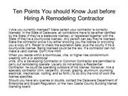 Ten Points You should Know Just before Hiring A Remodeling Contractor