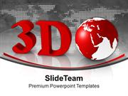 3d Representation Of Global Structure PowerPoint Templates PPT Themes
