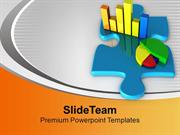 Bar Chart And Pie Chart On A Puzzle PowerPoint Templates PPT Themes An