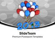 Celebration Theme With Balloons PowerPoint Templates PPT Themes And Gr