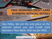 GENUINE Credit Card Numbers That Work 2013 VISA MASTERCARD