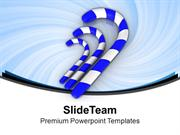 Three Blue Suger Candy Celebration Theme PowerPoint Templates PPT Them