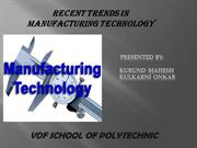 Manufacturing Technology.