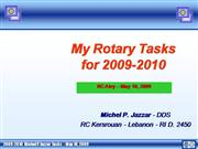 Michel P. Jazzar Rotary tasks 2009-2010