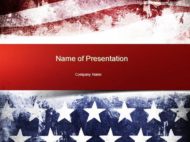Painted american flag powerpoint template authorstream toneelgroepblik Image collections