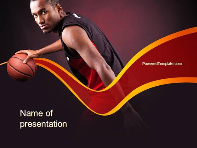 Basketball Theme Powerpoint Template Authorstream