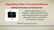 Negotiating Skills | Exercising Influence