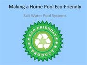 Making a Home Pool Eco-Friendly
