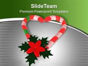 Candy For Christmas Celebration PowerPoint Templates PPT Themes And Gr
