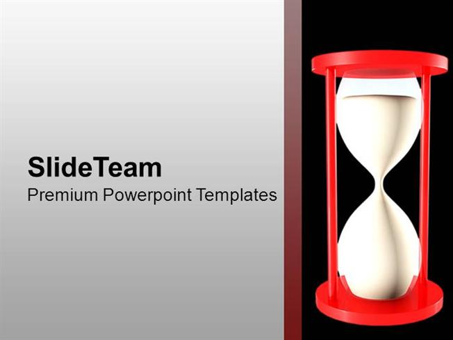 sand clock for time management powerpoint templates ppt themes and