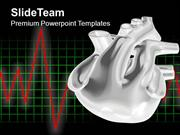 3d Heart With ECG Medical Theme PowerPoint Templates PPT Themes And Gr